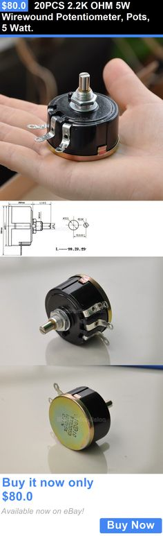 Other Vintage A V Parts and Accs: 20Pcs 2.2K Ohm 5W Wirewound Potentiometer, Pots, 5 Watt. BUY IT NOW ONLY: $80.0
