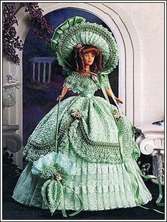 Barbie Crochet: Beauti In Old South, pattern