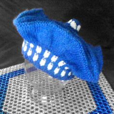 """With A Tangled Skein: The """"Blue Box"""" Beret - very wibbly wobbly."""