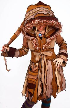 TUTORIAL  Pixie Coat made from Recycled Sweater  Forest von katwise, $9.00