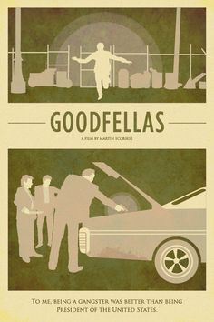 Goodfellas - Arty mimialmist movie poster #GangsterMovie #GangsterFlick