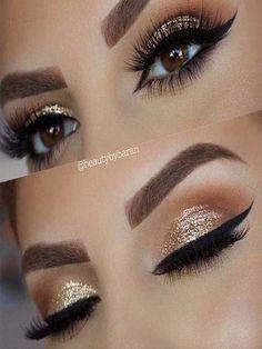 Gold Glitter Wedding Eye Makeup Look ., Gold Glitter Wedding Eye Makeup Look . Gold Glitter Wedding Eye Makeup Look More Gold Glitter Wedding Eye Makeup Look More. Gorgeous Makeup, Pretty Makeup, Love Makeup, Makeup Inspo, Makeup Inspiration, Beauty Makeup, Gold Makeup Looks, Perfect Makeup, Makeup Geek
