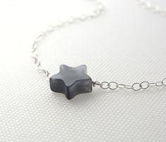 Tiny Jade Star Necklace // so cute!