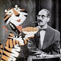 *Groucho Marx and Tony the Tiger, 1955