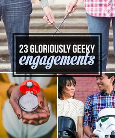 Are you and your significant other nerds at heart? If so, then you'll love these 23 gloriously geeky engagements! #MeantToBeMonday #DTTSWedding