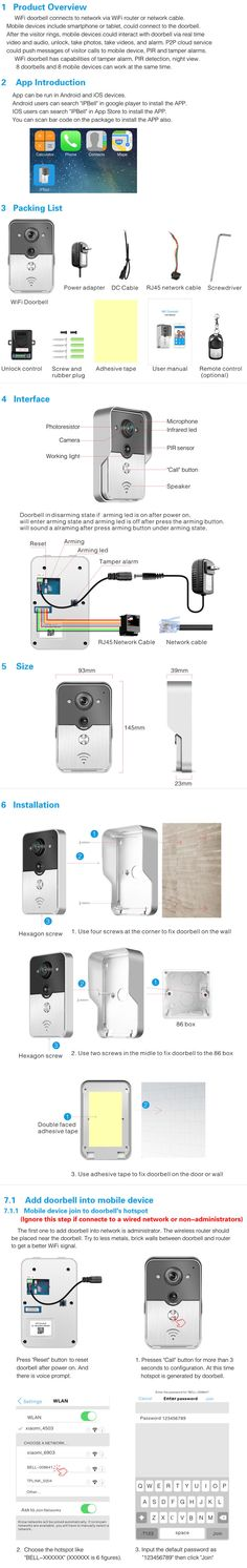 (1 set) WIFI wireless Video door phone Night version MINI camera Video Intercom support IOS&Andorid APPS Control Smart Home , https://myalphastore.com/products/1-set-wifi-wireless-video-door-phone-night-version-mini-camera-video-intercom-support-iosandorid-apps-control-smart-home/,