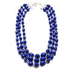 Fashion Three Rows Resin Beads Necklace