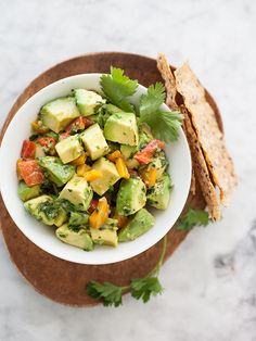 Quinoa and Avocado Chimichurri Salad | Serve with baguettes for an awesome appetizer...