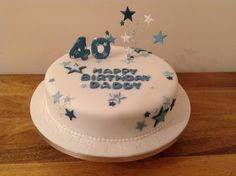 Looking for cake decorating project inspiration? Check out daddy birthday cake by member Kims Cakes. 40th Birthday Cakes For Men, Happy Birthday Cake Pictures, Happy Birthday Daddy, Happy Birthday Messages, Birthday Parties, Birthday Ideas, Hapoy Birthday, Cake Decorating Tips, Piece Of Cakes