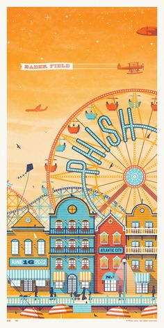 """Somehow, I don't imagine the phish audience (who I imagine as very """"relaxed"""") going to a amusement park"""