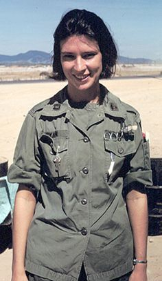 CPT Sharon Lane, Army Nurse Corps, Vietnam War She died in the helicopter en route to hospital when she and four Marines were seriously unjured by an exploding mine near Chu Lai. Vietnam History, Vietnam War Photos, North Vietnam, Vietnam Veterans, Military Women, Military History, Historia Universal, American War, American Idiot