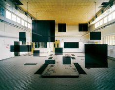 Anamorphic art by Georges Rousse