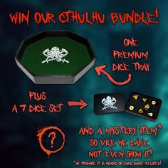 Win our Cthulhu bundle plus a mystery card/board game item! An $80 value! https://darksilverforge.com/sweepstakes
