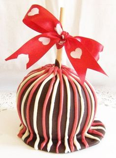 Gourmet Chocolate Caramel Apple Valentines Sweethearts Day