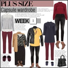 Week 1 plus size outfits from capsule wardrobe 1 by budding-designer on Polyvore featuring Mode, Manon Baptiste, Studio 8, Jette, M&Co, maurices, Raphaela by Brax, Silver Jeans Co., Lucky Brand and Henri Bendel