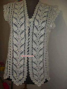 New Woman's Crochet Patterns Part 26 - Beautiful Crochet Patterns and Knitting Patterns Gilet Crochet, Crochet Coat, Crochet Cardigan Pattern, Crochet Tunic, Crochet Jacket, Lace Knitting, Crochet Clothes, Knitting Patterns, Crochet Patterns