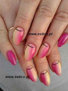gel nails, ombre nails