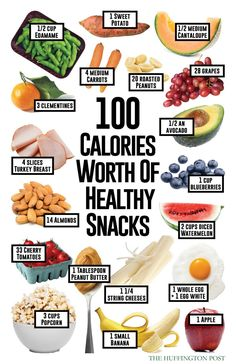 Healthy snacks that are 100 calories #healthyliving #healthyeats #snacks