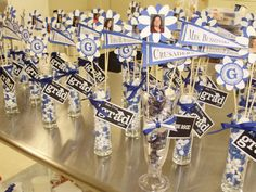 Graduation Party Centerpieces Ideas   Here are some general tips for creating a graduation centerpiece:
