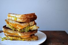 Last week, I wrote about my dad's grilled cheese for Cup of Jo. When I told  my dad I had written about him -- touting his rare kitchen appearances as  enough to make a French chef weep -- he claimed I may have oversold his  talents.  But I really didn't. His trick for adding relish to a grilled cheese  sandwich is smart and addictive and makes other grilled cheeses seem  lackluster.