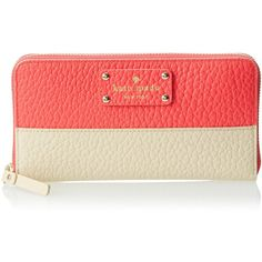 kate spade new york Grove Court Lacey Wallet (5.605 UYU) ❤ liked on Polyvore featuring bags, wallets, red bag, kate spade wallet, 12 card wallet, red wallet and pocket bag