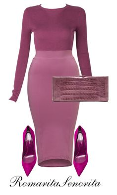 Berry Part Four by romaritasenorita on Polyvore featuring Sergio Rossi and Nancy Gonzalez