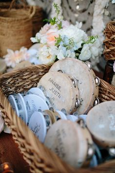 Wedding Favor Ideas: Shake that tambourine wedding favors.