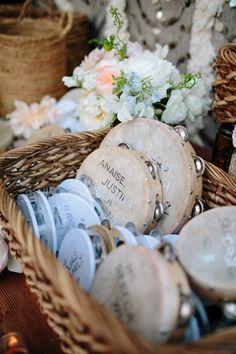 Wedding Favor Ideas: Shake that tambourine wedding favors.