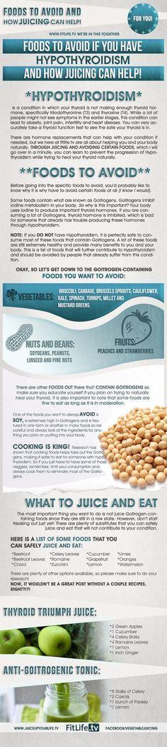 foods to avoid if you have hypothyroidism {infographic}