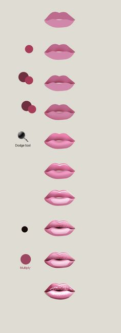 Draw lips in Photoshop in 5 min | Artdesigner.lv via www.PinCG.com