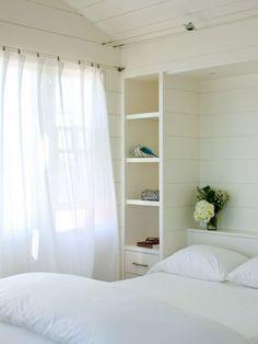White + curtains