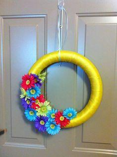 Spring Wreath DIY under $10