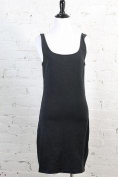 "Gina Tricot Women's Black Sleeveless ""Sofia Dress"" Cotton Dress L #GinaTricot #Casual"
