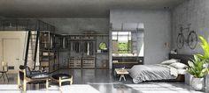 A Masculine 3D Loft Designed By Tharik Mohammed | Vosgesparis | Bloglovin'