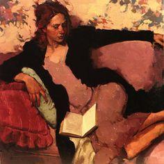A Relaxing Read - Limited Editions - All Artwork - Joseph Lorusso - Tara Drew Gallery   Fine Art World