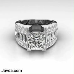 MEGA SALE Extra Off on selected item only at javda, Gleaming baguette 3 row shank princess diamond engagement ring made in white gold, Visit our website on below link. For Item no: baguetteengagementring Leaf Engagement Ring, Vintage Engagement Rings, Unique Diamond Rings, Unique Rings, Mens Gold Diamond Rings, Colored Diamond Rings, Emerald Rings, Ruby Rings, Gold Diamond Wedding Band