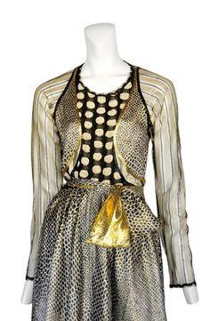 Geoffrey Beene metallic gown - Detail