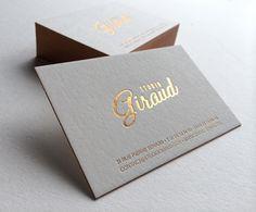 Print : Badcass - Design : Studio Giraud - Carte de visite en letterpress - #dorure #marquageàchaud