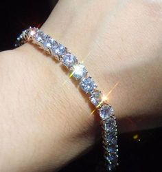 Round-cut-no1-AAA-Silver-Iced-Out-Tennis-Bling-Lab-Simulated-Diamond-Bracelet-4m
