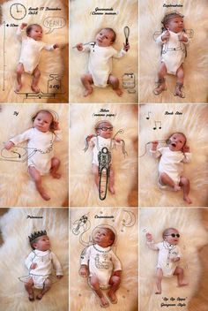 ideas para fotografiar a un recién nacido