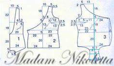 Выкройка блузки - распашонки