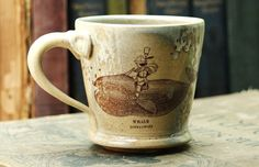 Coffee Cup  Whale Rider  Home Dining Mugs by mudstuffing on Etsy, $32.00
