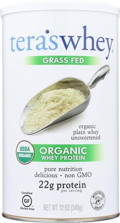 teraswhey Grass Fed Organic Whey Protein, Plain, 12 Ounce ** Check this awesome product by going to the link at the image. (This is an affiliate link) Organic Whey Protein, Healthy Protein, Protein Power, Healthy Treats, Healthy Recipes, Unflavored Protein Powder, Whey Protein Powder, Protein Powder Reviews, Acid And Alkaline