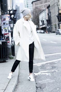 5 Black And White Winter Looks To Try Now via @WhoWhatWear | @tomboychronicle