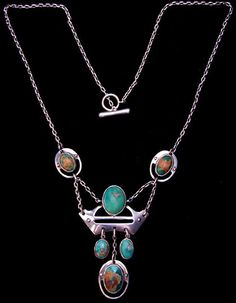 Murrle Bennett & Co. turquoise & silver necklace