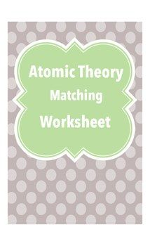 This worksheet was designed to review the atomic theory as well as basic atomic concepts such as subatomic particles and placement on the periodic table. It could be used as a class worksheet, assessment or homework.