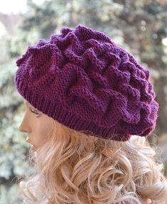 Women's Hat Winter Women Hat Slouchy Beanie Slouchy by DosiakStyle