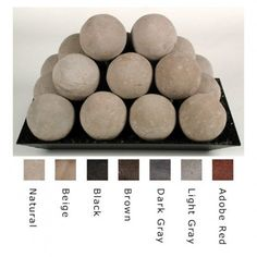 Rasmussen 18 Inch Fire Ball Set, 4 Inch Balls In Natural
