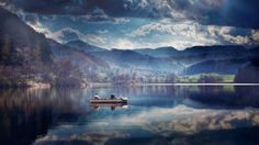 lake reflection boat iphone7 wallpaper download high resolution