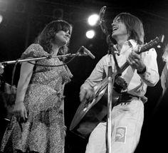 Linda Ronstadt and Jackson Browne